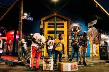 Jazz Musiker auf der Straße