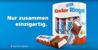 Screenshot aus Kinder Riegel Werbung