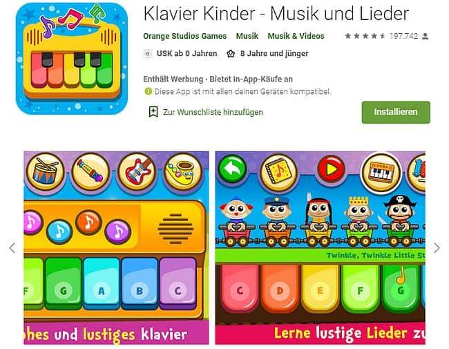 Klavier Kinder - Musik und Lieder