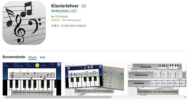 Klavierlehrer App