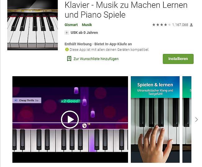 Klavier Piano Spiele App