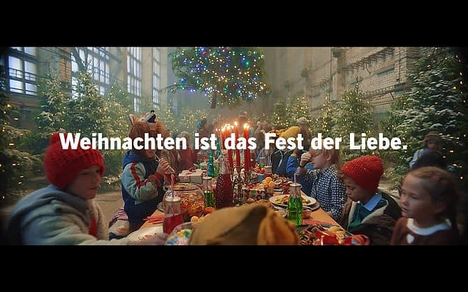 Screenshot aus Lidl Weihnachtswerbung