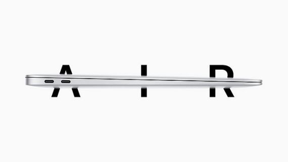 Screenshot aus MacBook Air Werbung