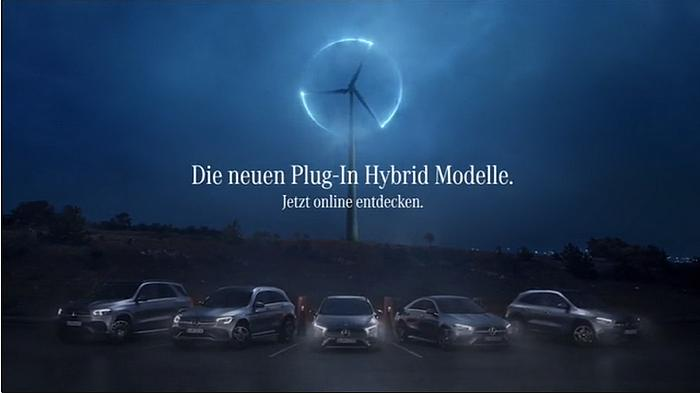 Screenshot aus der Mercedes-Benz Plug-in Hybrid Modelle Werbung