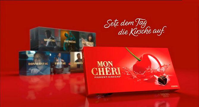 Screenshot aus Mon Chéri Werbung