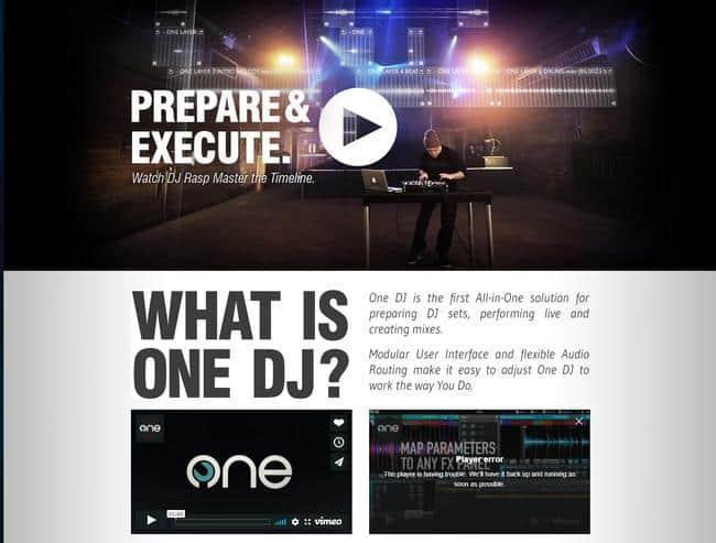 One DJ Webseite
