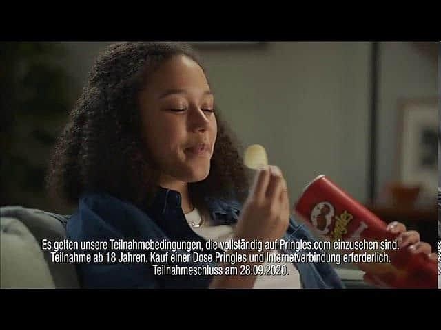 Screenshot aus der Pringles Werbung
