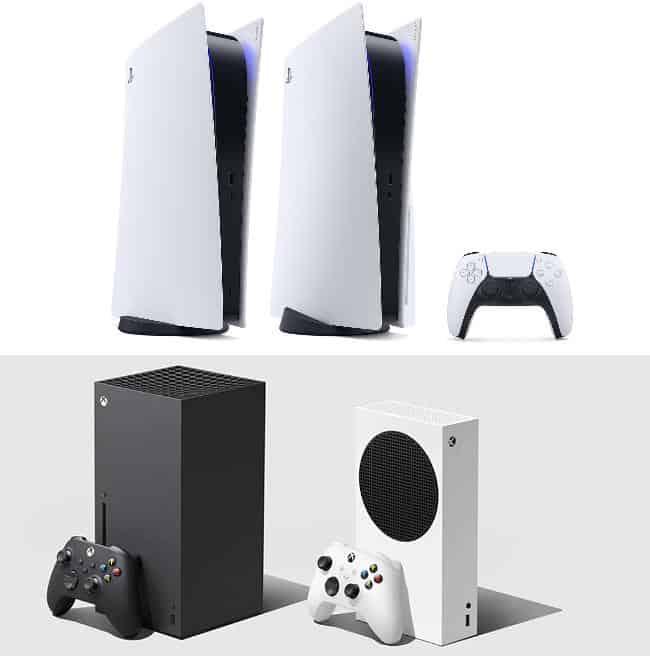 Design PS5 und xbox series x und s