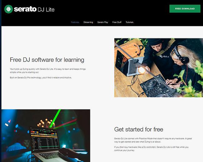 Serato DJ Lite Webseite