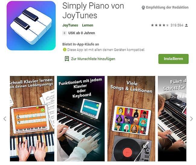 Piano Spiel App