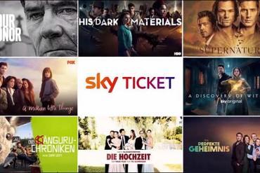 Screenshot aus Sky Ticket Werbung 2021