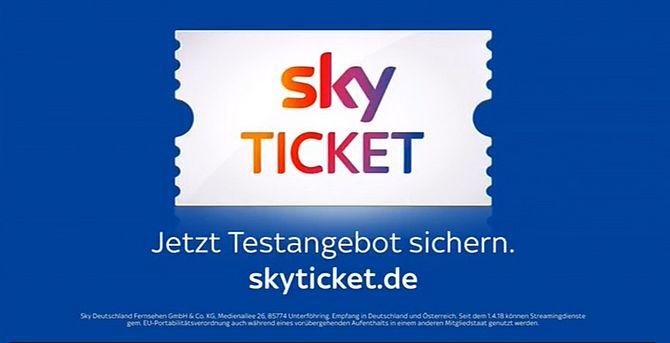 Screenshot aus Sky Ticket Werbung
