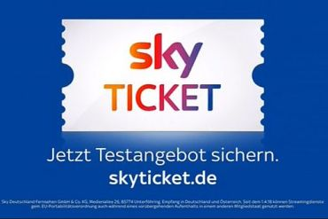 Screenshot aus Sky Ticket Werbung