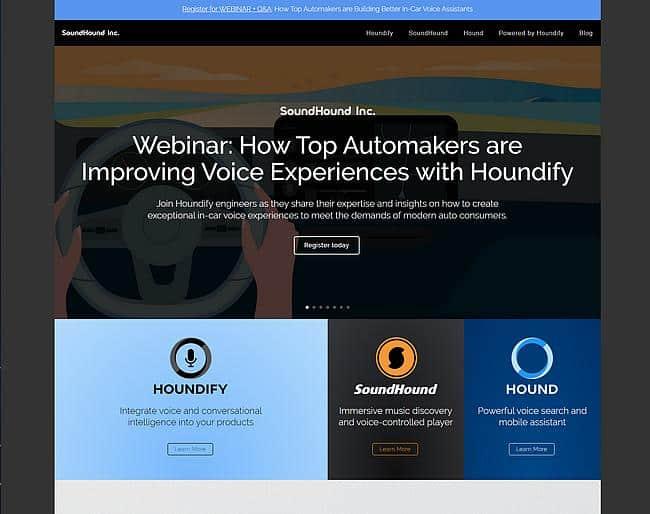 SoundHound Webseite