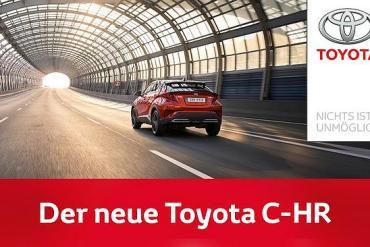 Screenshot aus der Toyota C-HR Hybrid Werbung