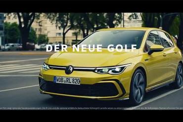 Screenshot aus der neue VW Golf Werbung