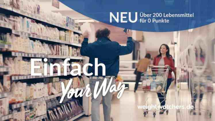 Screenshot aus Weight Watchers Werbung