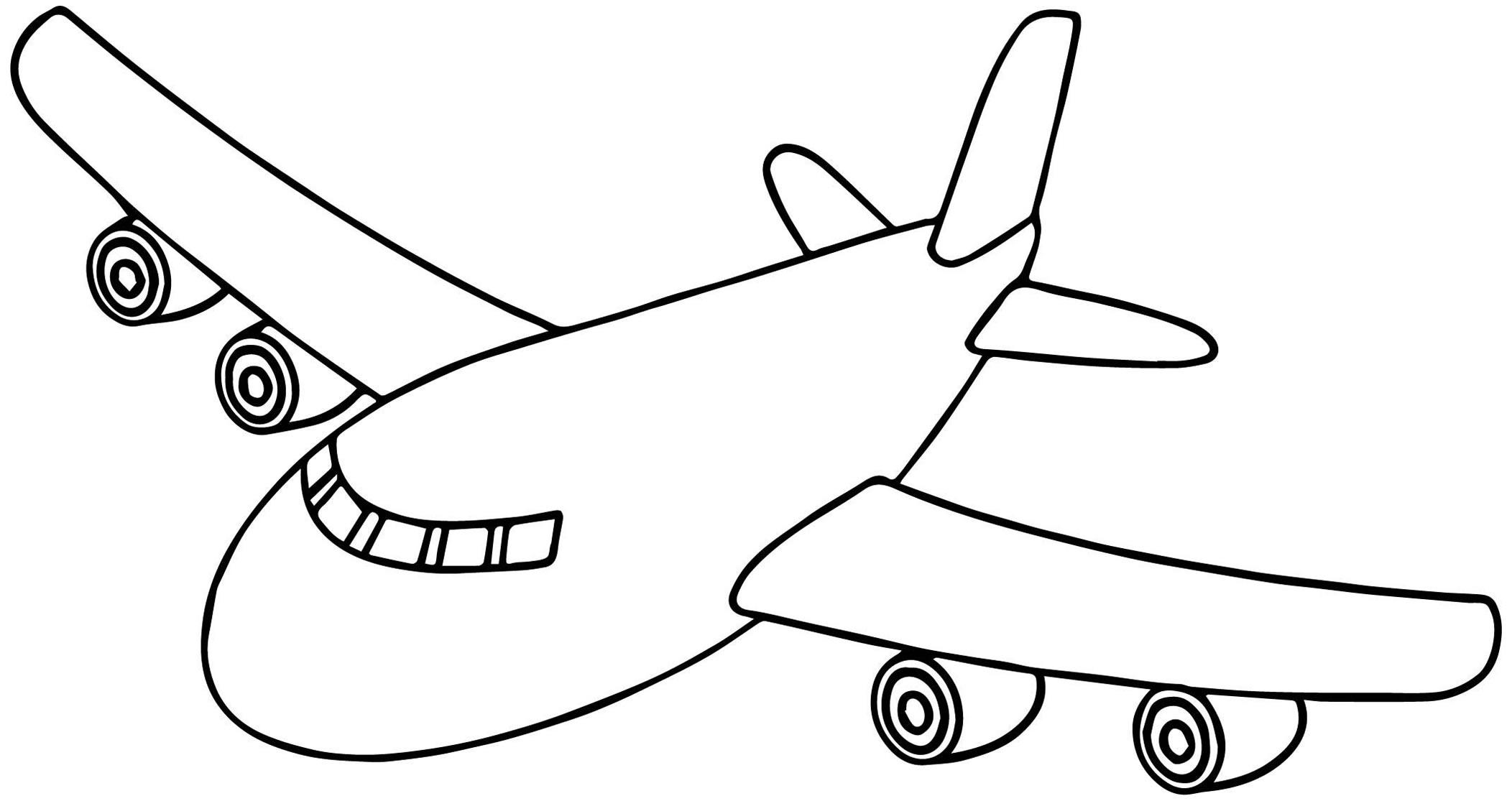 Desenhos De Aviao Para Imprimir E Colorir