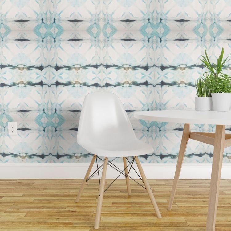 #wallpaper #wallpaperideas #shibori #tiedye #beachyboho #officeideas #officedecor | Poplolly co.