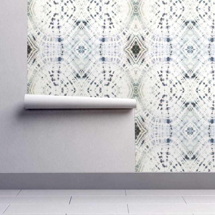 #wallpaper #shibori #officedecorideas #officedecor #bohooffice | Poplolly co.