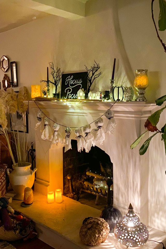 Spooky Halloween Mantle Decor | Poplolly co