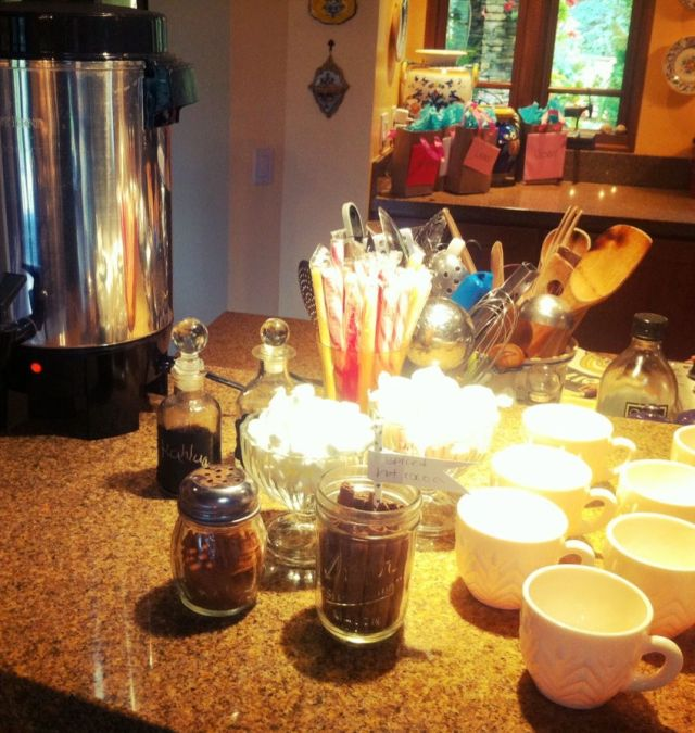 Hot Cocoa Station for Fall themed baby shower | Poplolly co