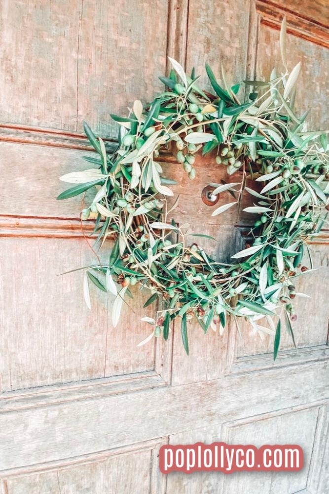 Simple Live Front Door Wreath tutorial | Poplolly co