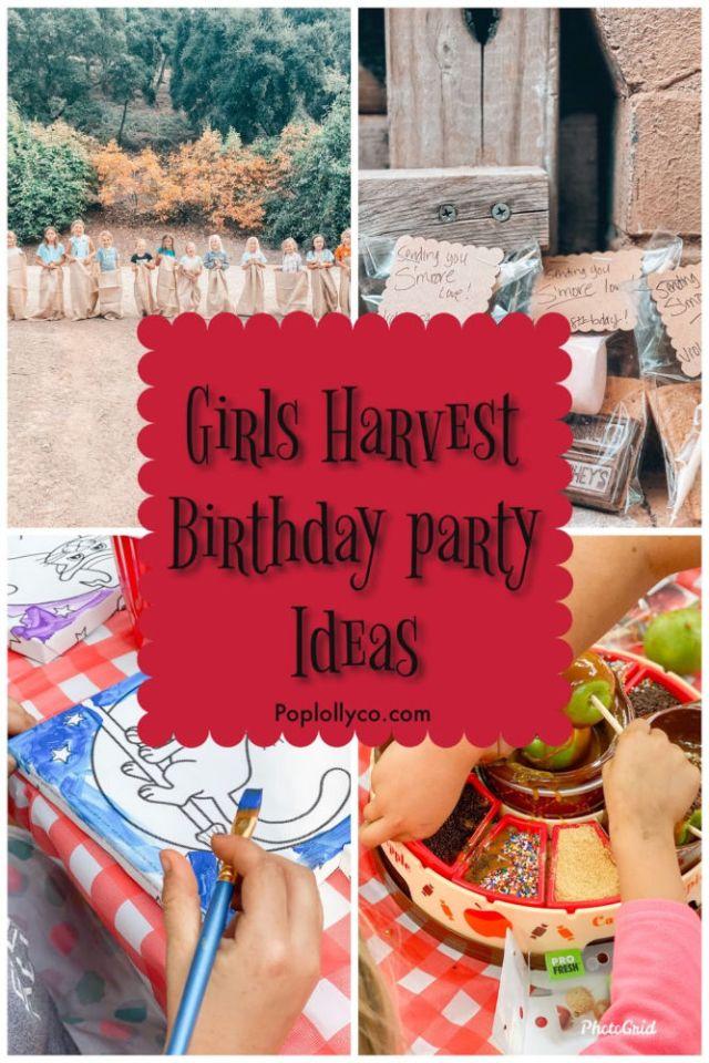 Girls Harvest Birthday Party Ideas | Poplolly co