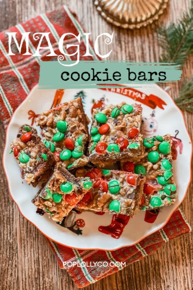 Super Easy Recipe for holiday magic cookie bars | Poplolly co.