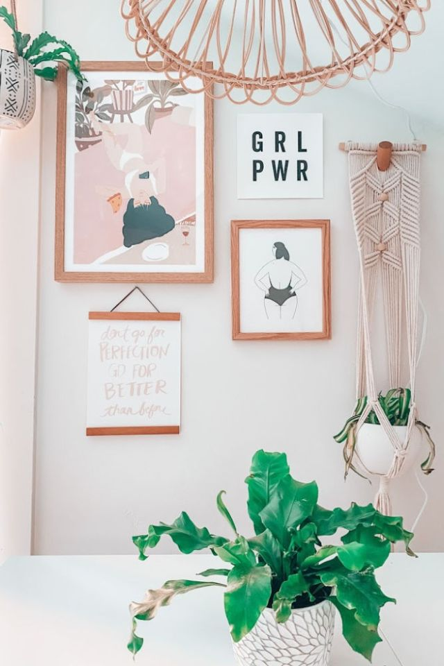 modern art for a California Beach home office from urban outfitters | Poplolly co