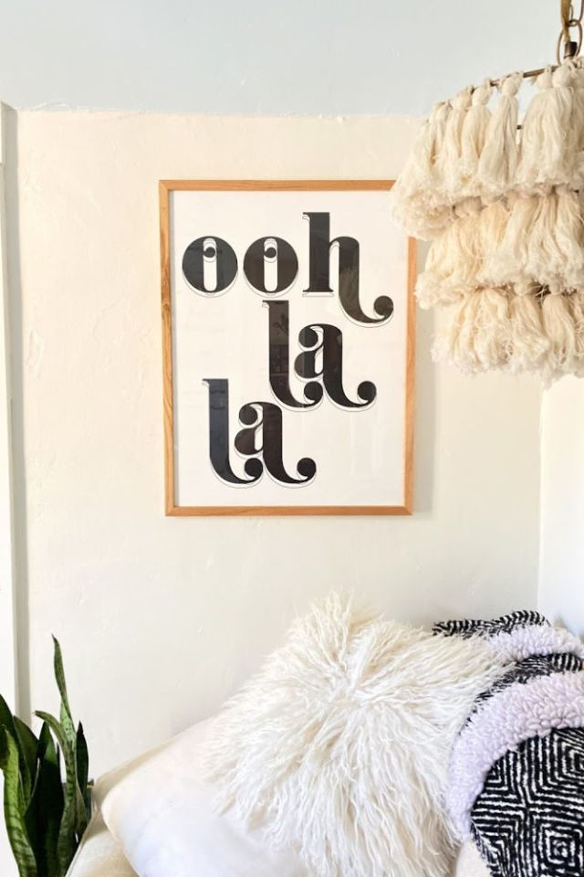 ooh la la graphic art print from urban outfitters | poplolly co