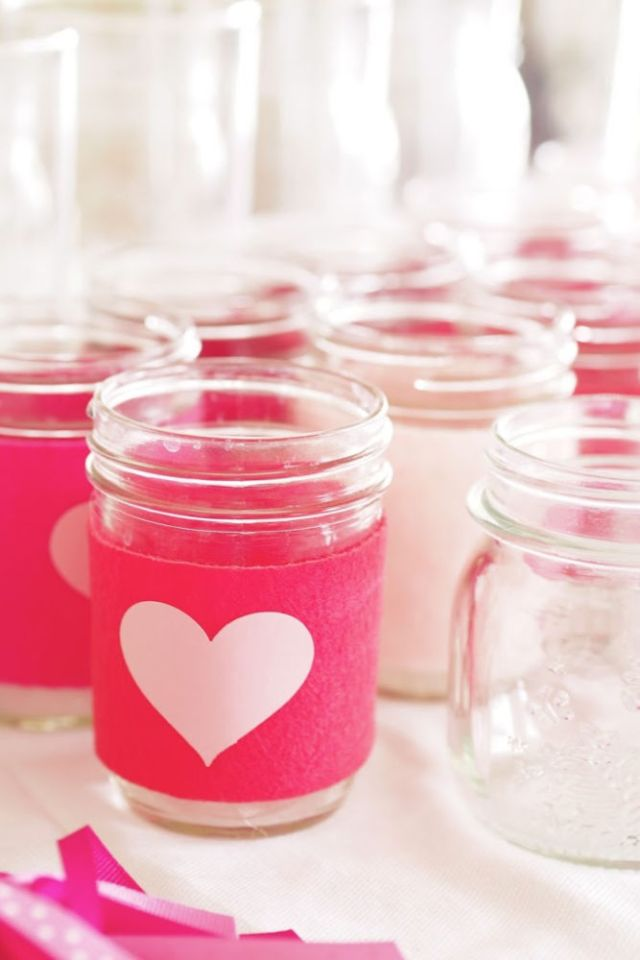 DIY heart mason jar sleeves | Poplolly co
