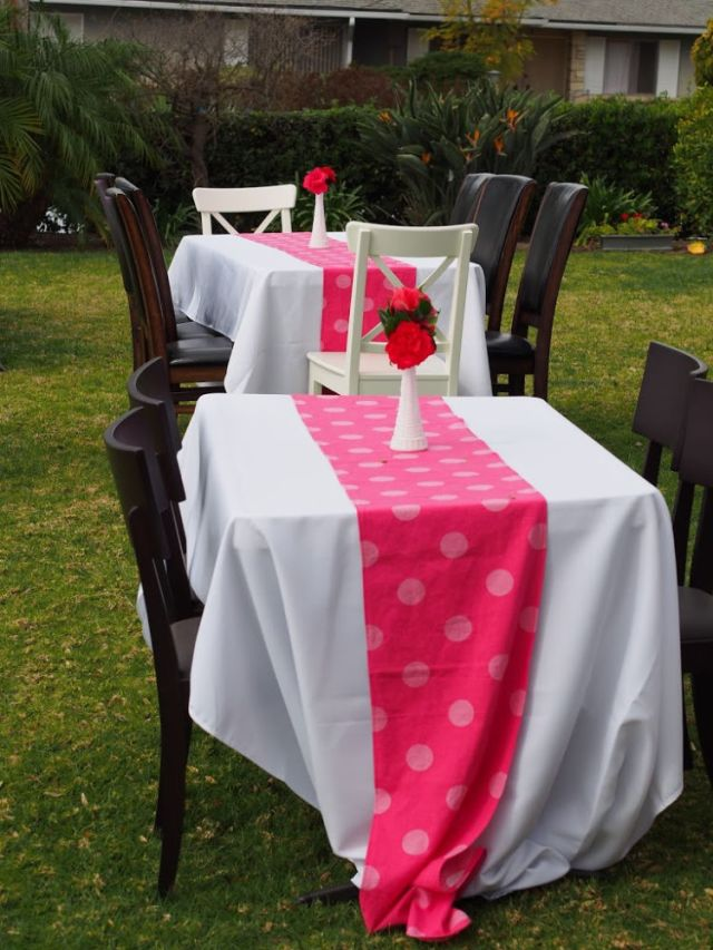 DIY Table Runner for Valentines Themed Baby Shower | Poplolly co