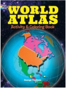 world atlas geography coloring book | best amazon homeschool supplies | Poplolly co