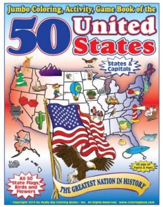 United States geography kids coloring book | Poplolly co