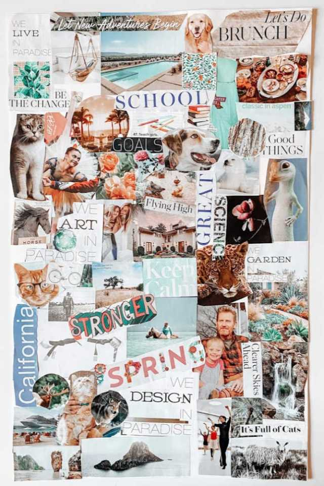 example of a vision board for kids | Poplolly co