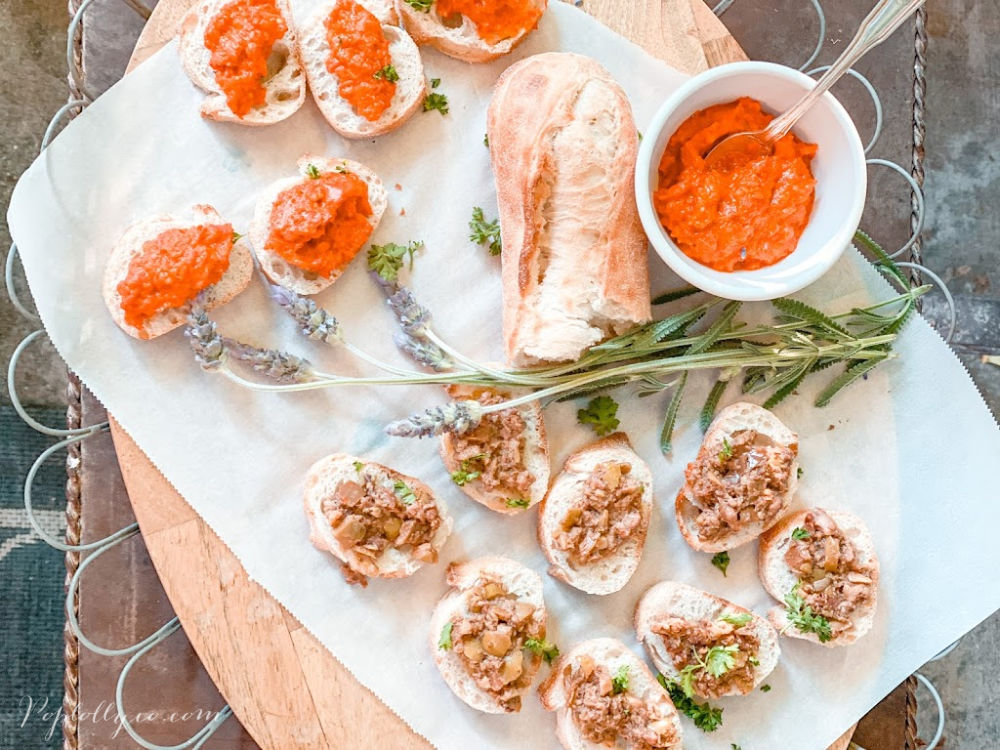 happy hour menu ideas | easy bruschetta | Poplolly co