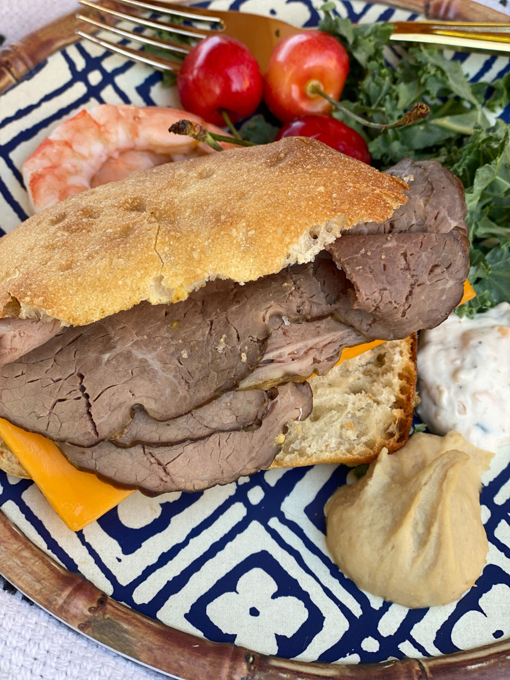 roast beef sandwich pairs so well with the Flat Top Red Blend   picnic ideas   Poplolly co