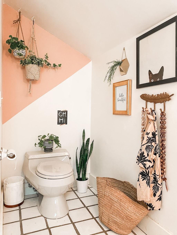 Easy Bathroom Accent Wall Color Block Tutorial Poplolly Co