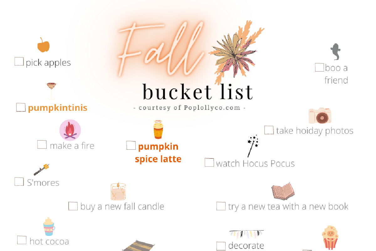 FALL BUCKET LIST FREE PRINTABLE | POPLOLLY CO