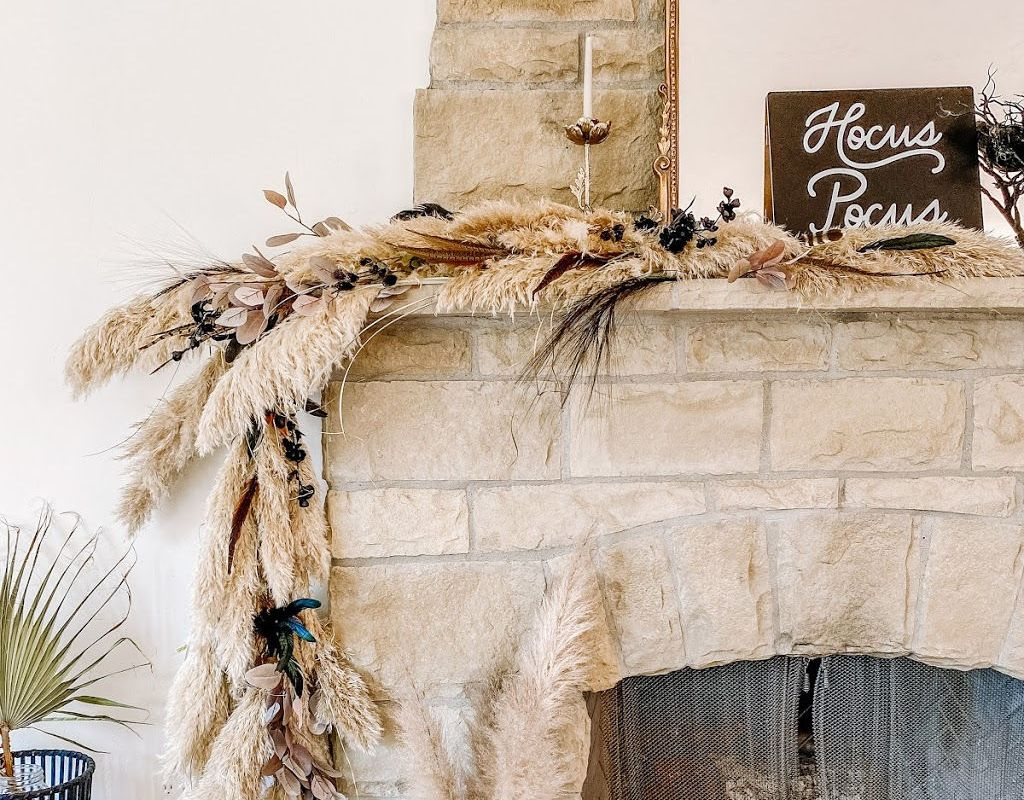 diy pampas grass garland