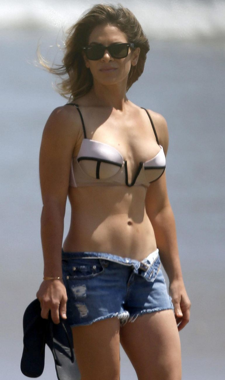 Pop Minute Jillian Michaels Bikini Shorts Malibu Beach