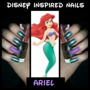 disney inspired nails ariel ft