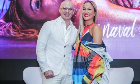 Cláudia Leitte e Pitbull. Foto: Divulgação.