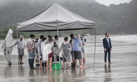 Rodrigo Santoro nos bastidores da nova música de Alok. Foto: Divulgação