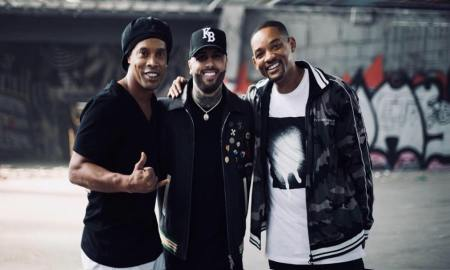 Nicky jam, Will Smith e Ronaldinho Gaúcho. Foto: Reprodução/Instagram (@nickyjampr)