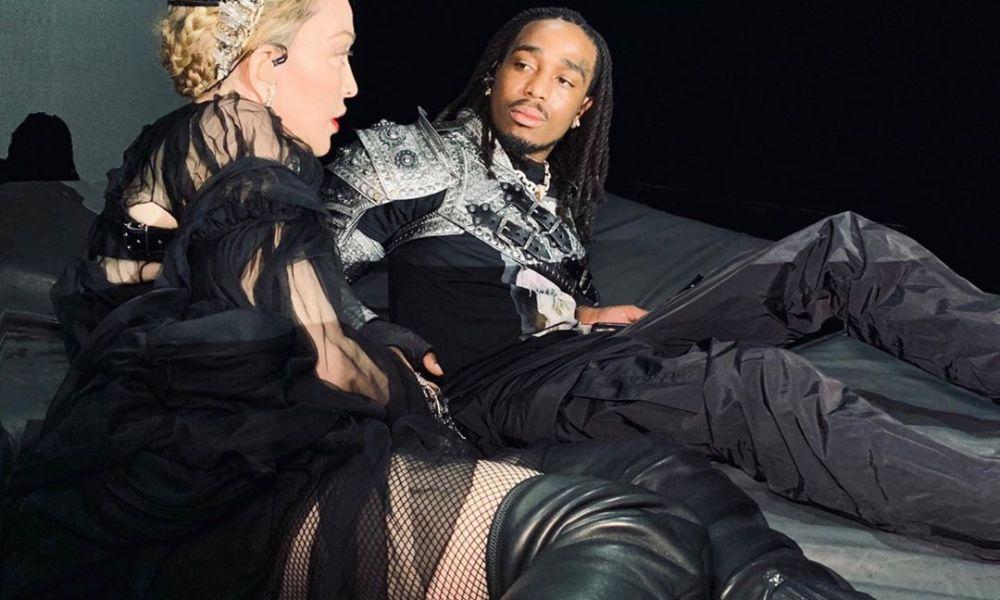 Madonna e Quavo. Foto: Reprodução/Instagram (@madonna)