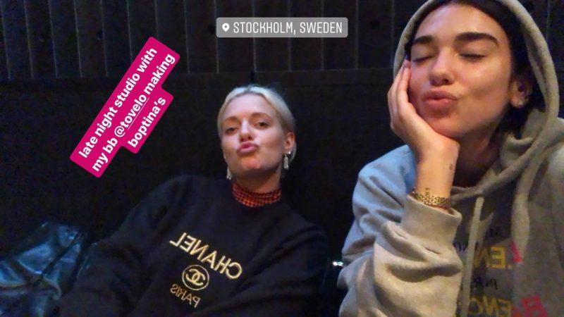 Tove Lo e Dua Lipa. Foto: Reprodução/Instagram