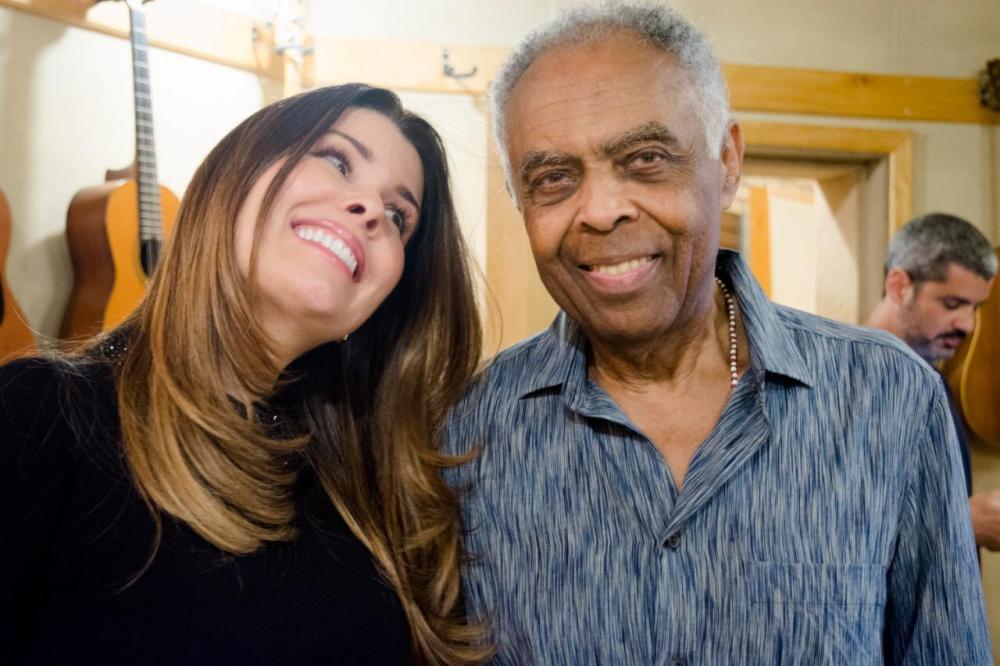 Nádia Figueiredo e Gilberto Gil. Foto: Divulgação