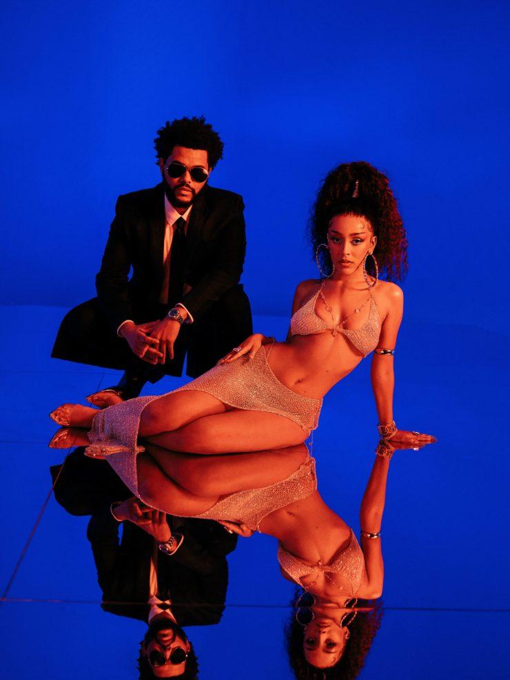 Doja Cat e The Weeknd. Foto: Divulgação